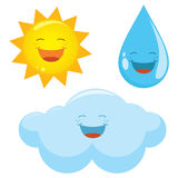 Vector Illustration Of Weather Icons Stock Image