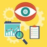 Vector illustration of web analytics information. And development website statistic - vector illustration Royalty Free Stock Photos