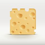Vector illustration web app icon of cheese. Royalty Free Stock Photography
