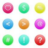 Vector illustration of web elements button set. Vector illustration of web elements button color set Royalty Free Stock Image