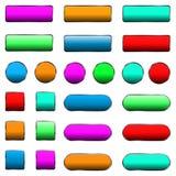 Vector illustration of web elements button set. Vector illustration of web elements button color set Stock Images