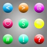 Vector illustration of web elements button set. Vector illustration of web elements button color set Stock Photos