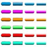 Vector illustration of web elements button set. Vector illustration of web elements button color set Stock Image