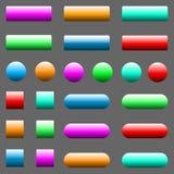 Vector illustration of web elements button set. Vector illustration of web elements button color set Stock Photo