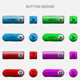 Vector illustration of web elements button set. Vector illustration of web elements button color set Royalty Free Stock Images