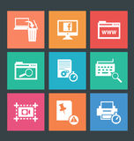 Vector illustration of web icons Stock Photography