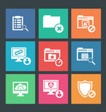 Vector illustration of web icons Royalty Free Stock Image