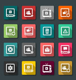 Vector illustration of web icons, flat style Royalty Free Stock Images