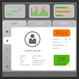 Vector illustration of web or mobile user interface, with tabs a Stock Photos