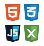 Vector illustration of web shields Stock Image