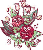 Vector illustration - wedding flowers Royalty Free Stock Images