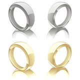 Vector illustration of wedding rings Royalty Free Stock Photography