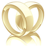 Vector illustration of wedding rings Royalty Free Stock Photo