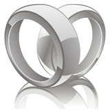 Vector illustration of wedding rings Stock Photography