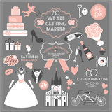 Vector illustration of wedding. Royalty Free Stock Images