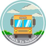 Vector illustration welcome back to school on the bus vector illustration