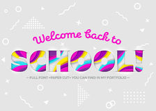 Vector Illustration of Welcome Back to School Inscription. Royalty Free Stock Photo