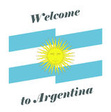 Vector illustration Welcome to Argentina. Abstract background with flag of Argentina Royalty Free Stock Photography