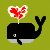 Vector Illustration of whale Stock Image
