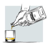 Vector illustration of whiskey and glass Stock Photo