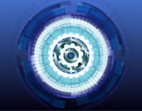 Vector illustration white gear wheel on circuit board, Hi-tech digital technology and engineering Abstract futuristic- Royalty Free Stock Image
