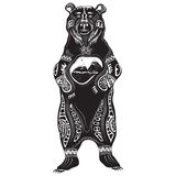 Vector illustration of wild totem animal - Bear Royalty Free Stock Photography