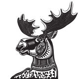 Vector illustration of wild totem animal - Moose Stock Images