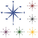 vector Illustration of wind rose Stock Photography