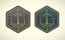 Vector illustration of wind turbines Royalty Free Stock Photo