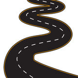 Vector Illustration of winding road Stock Image