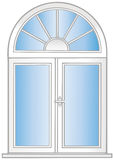 Vector illustration a  window. Royalty Free Stock Photo