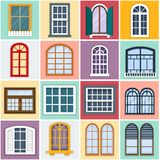 Vector illustration of windows set. Stock Image