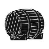 Vector illustration of wine and barrel icon. Set of wine and beer stock vector illustration. stock illustration