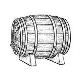 Vector illustration of wine barrel. Wine barrel  on white background. Vector illustration Royalty Free Stock Images