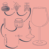Vector illustration of wine making. Stock Photography