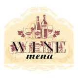 Vector illustration for a wine menu. Royalty Free Stock Photography