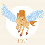 Vector illustration of of winged pegasus Stock Photography