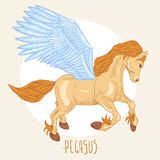 Vector illustration of of winged pegasus Stock Photo