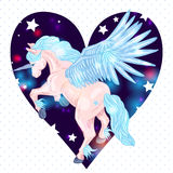 Vector illustration of of winged pegasus Royalty Free Stock Photo