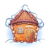Vector illustration of winter cartoon home Royalty Free Stock Images