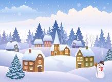Christmas day landscape Stock Image