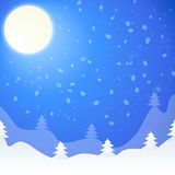 Vector illustration of winter landscape Royalty Free Stock Image