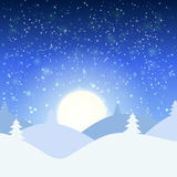 Vector illustration of winter landscape Royalty Free Stock Photos