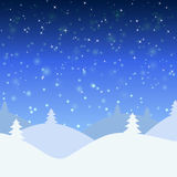 Vector illustration of winter landscape Stock Images