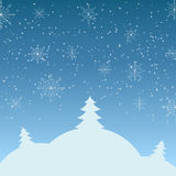 Vector illustration of winter landscape Royalty Free Stock Photography