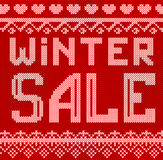 Vector Illustration of Winter sale discount Knitted Style for Design, Website, Background, Banner. Vector Illustration of winter Christmas sale discount Knitted Royalty Free Stock Image