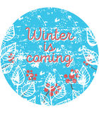 Vector illustration of winter time. Hand drawn illustration of winter time stock illustration