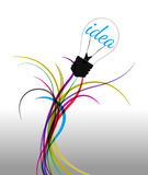 Vector illustration wiring connecting idea Royalty Free Stock Photography