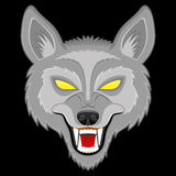 Vector illustration. Wolf. Royalty Free Stock Image