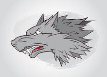 Vector illustration with wolf's head. Stock Photos